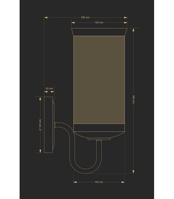 Sieninis šviestuvas OLZANO OLZ-K-1(P)