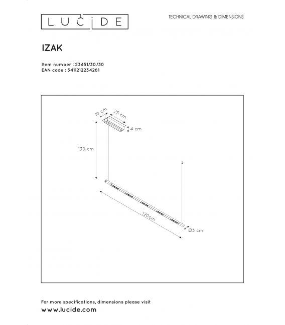 32W LED Pakabinamas šviestuvas IZAK Black Dimeriuojamas 23451/30/30
