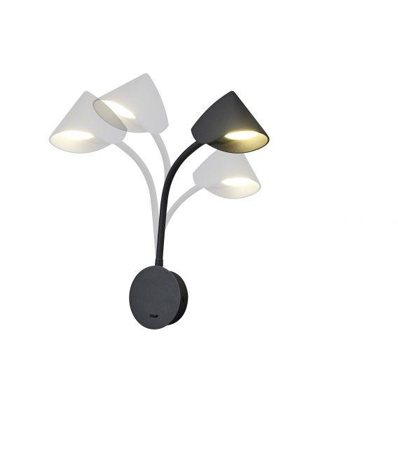 7.5W LED Sieninis šviestuvas GOA Black 7721