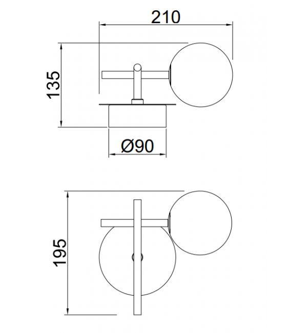 Sieninis šviestuvas CELLAR 7636