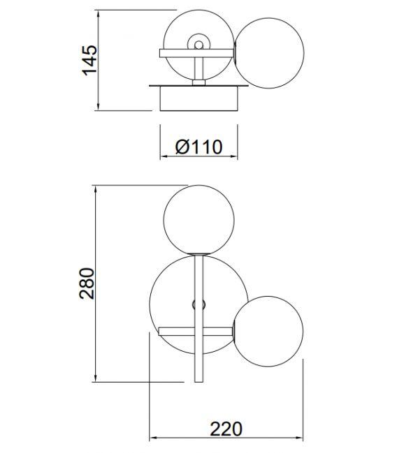 Sieninis šviestuvas CELLAR 2 7635