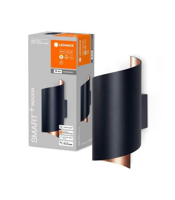 12W LED Sieninis šviestuvas SMART+ WIFI ORBIS TWIST Black 4058075574090