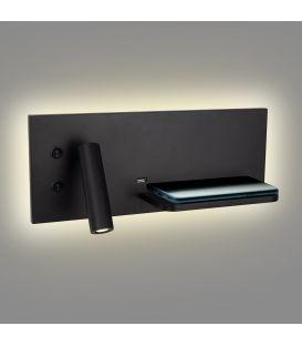 9W LED Sieninis šviestuvas SUPERIOR Black W0292