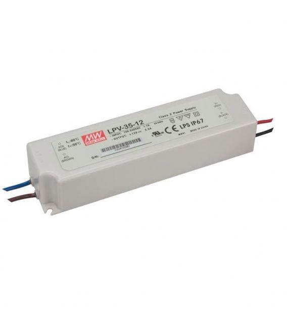 Transformatorius LPV-35-12 36W 12V 3,00A IP67 LPV-35-12.