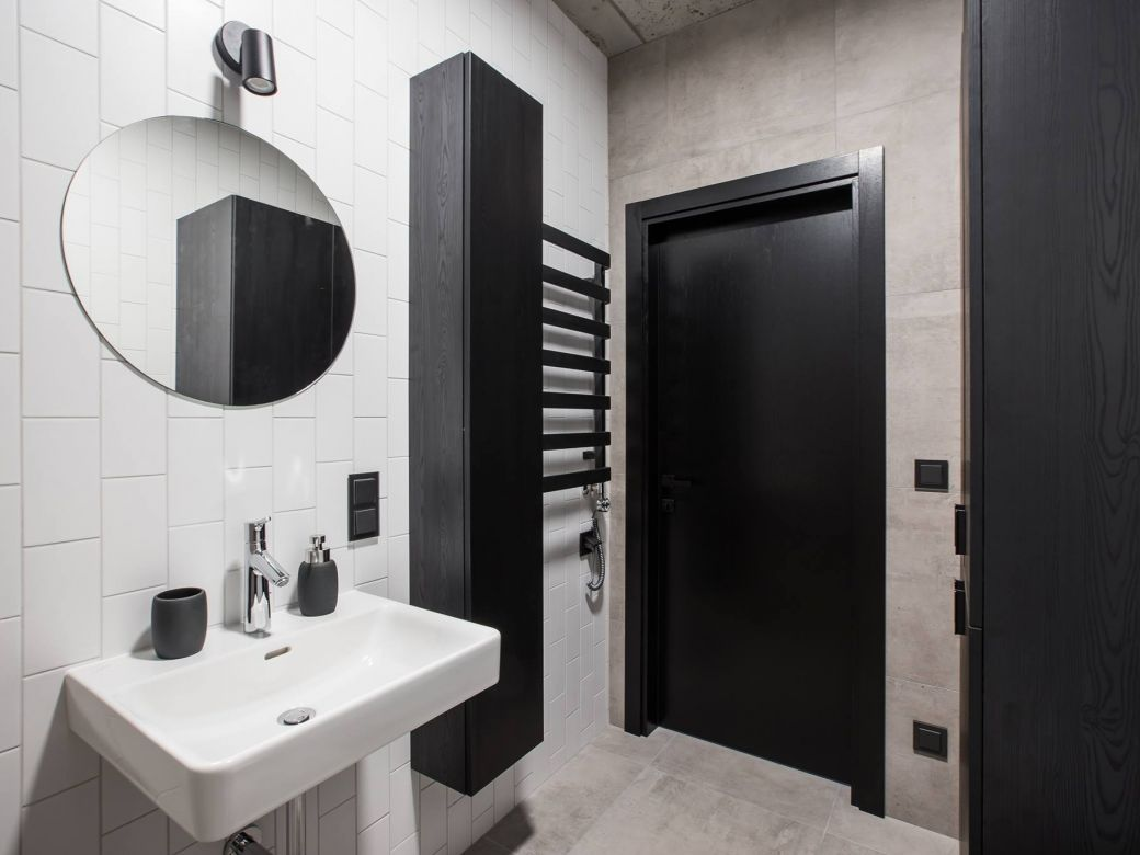 Minimalistinio dizaino nedidelis butas